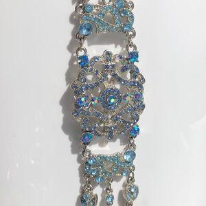 Blue crystal rhinestone bracelet